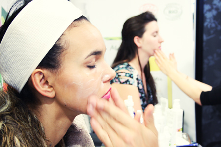 Fellow bloggers enjoy luxury organic Melvita facials