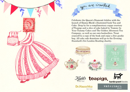 Tea and Cake by Emma Block - Jubilee Launch Party invite