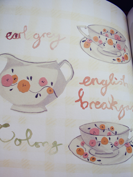 Tea and Cake illustrated recipe book by Emma Block