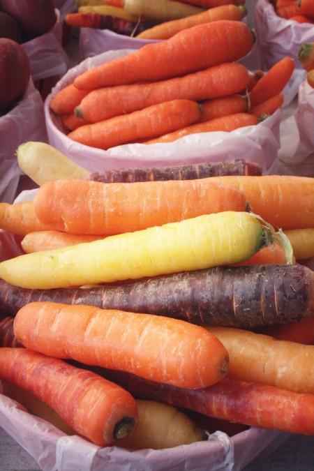 Jean-Talon Market, Montreal - rainbow carrots