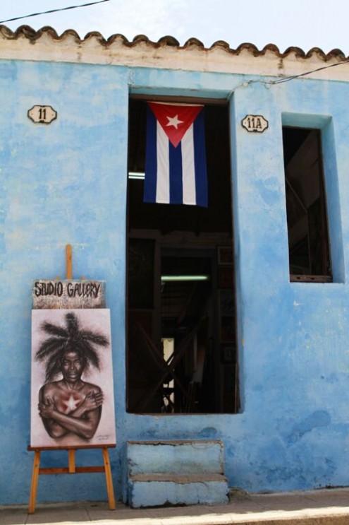 A Camaguey art gallery, Cuba
