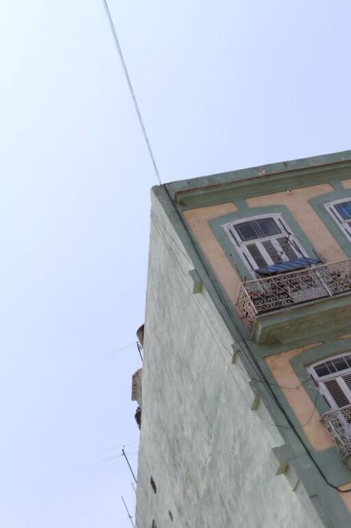 Pastel painted building, Havana, Cuba