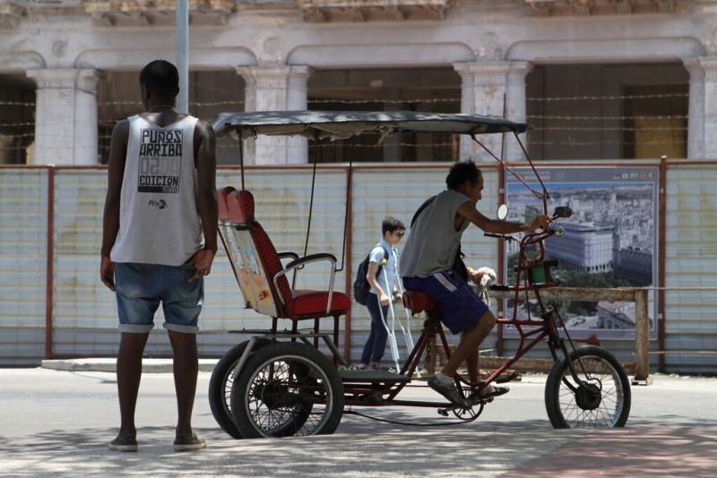 Rickshaw in Havana, Cuba