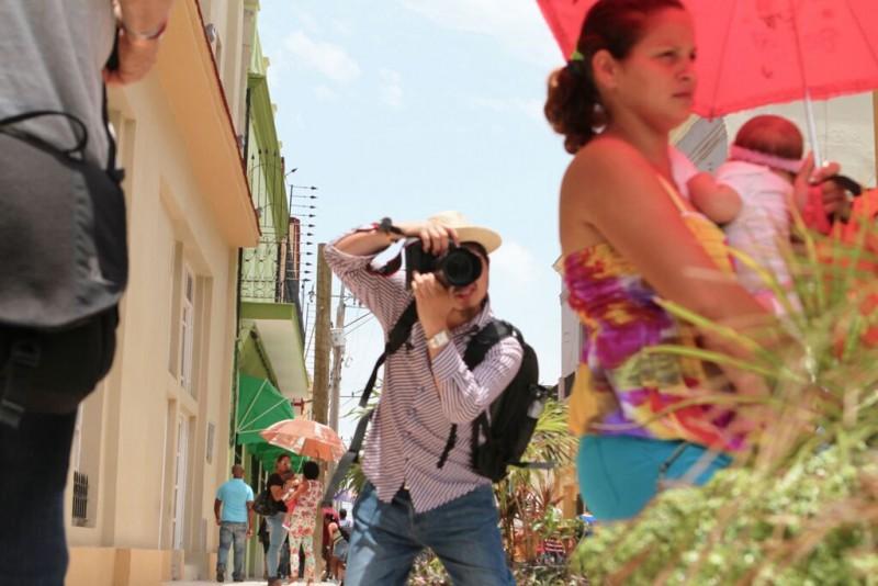 A market street in Camaguey, Cuba